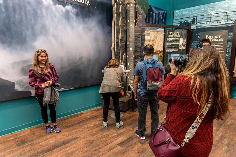 Learn about the history of Niagara Falls at the indoor multimedia experience, The World Changed Here Pavilion, at Niagara Falls State Park