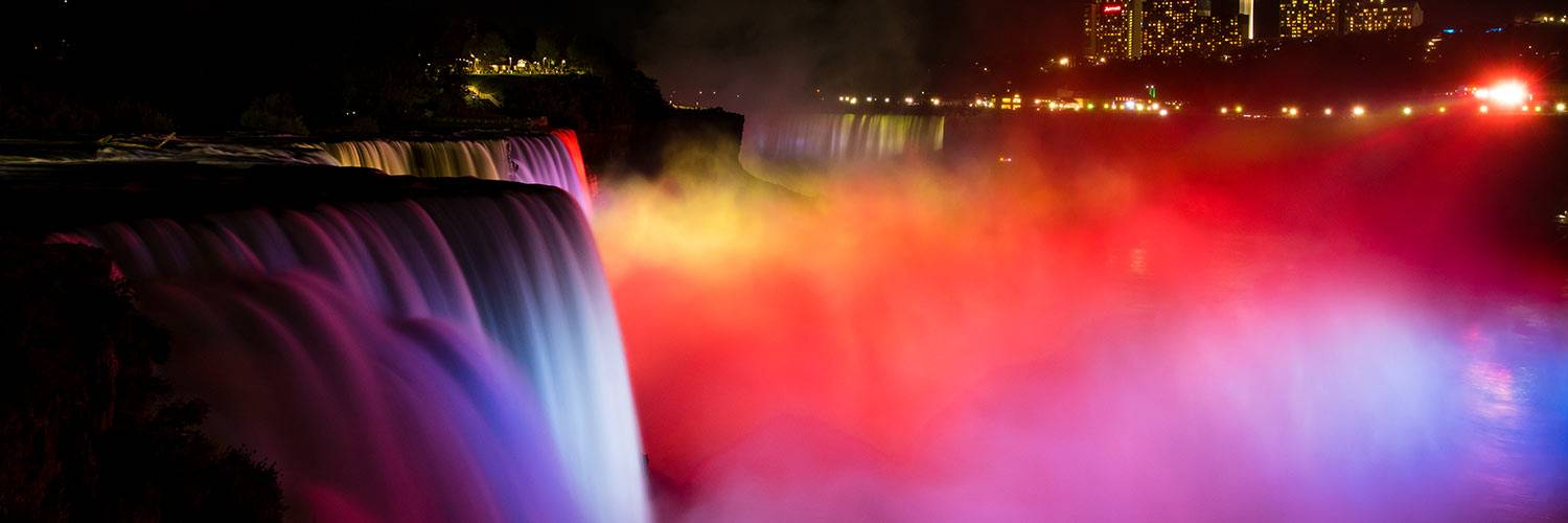 Image result for niagara falls illumination