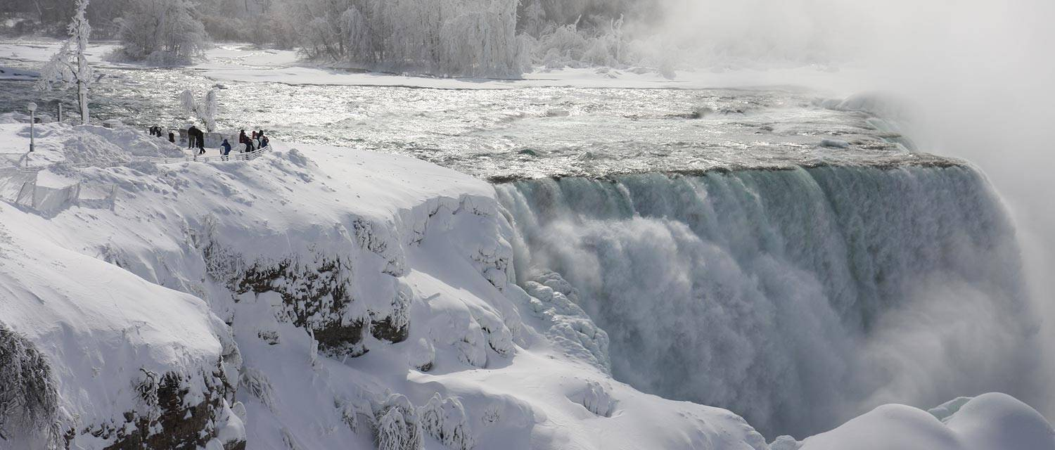 Take in the beauty of Niagara Falls in the winter