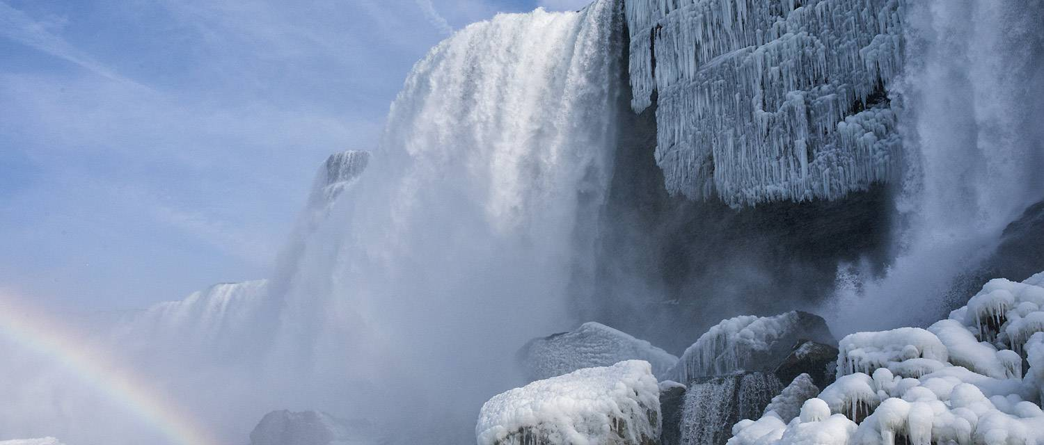 Niagara Falls Cave of the Winds in winter