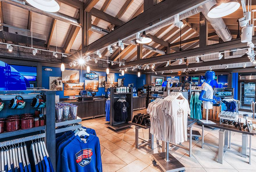 interior view of store at Niagara Falls USA