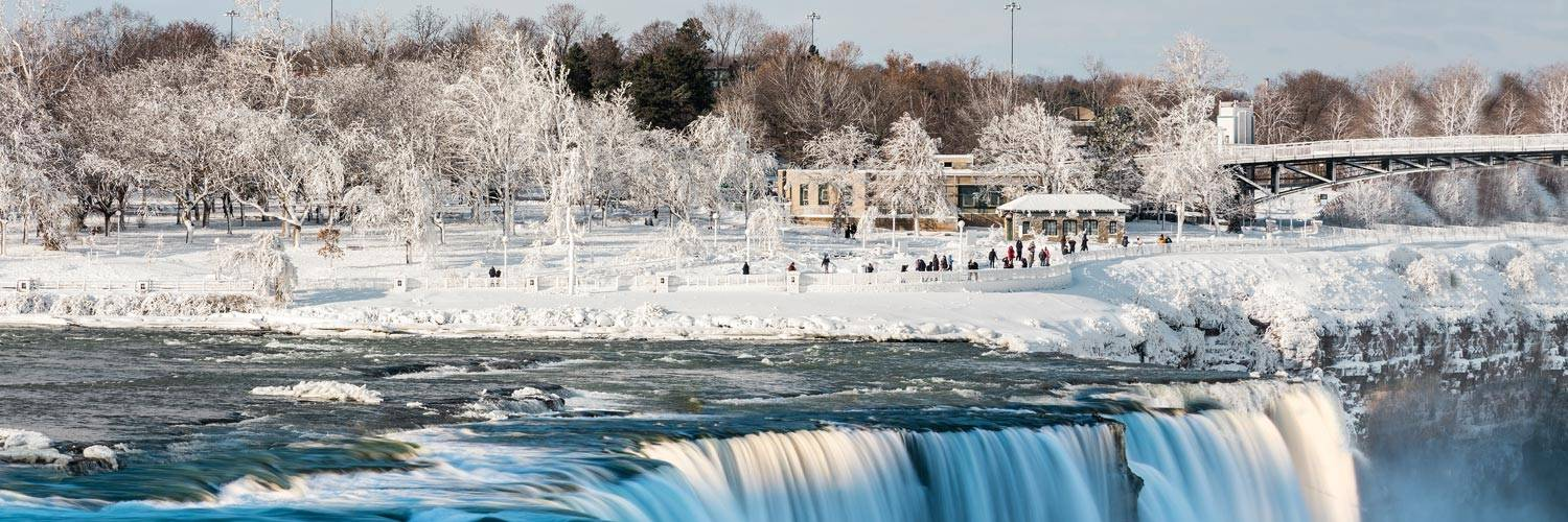 American Falls at Niagara Falls State Park in the winter