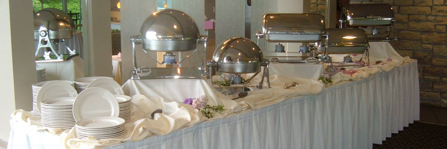 banquet display at a wedding